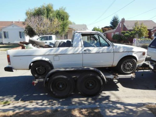 1980 Volkswagen Rabbit 1.5 liter engine Pickup Truck For ...
