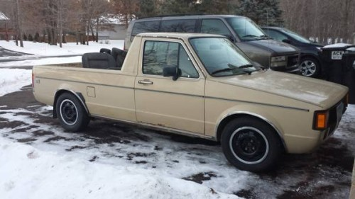 1981 volkswagen rabbit 1 6l 5 speed pickup truck for sale ham lake mn. Black Bedroom Furniture Sets. Home Design Ideas