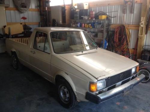 1982 volkswagen rabbit 5 speed pickup truck for sale fayetteville ar. Black Bedroom Furniture Sets. Home Design Ideas