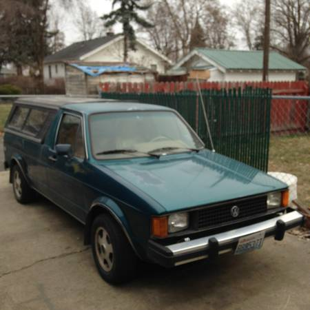 1982 volkswagen rabbit 1 6 ltr diesel pickup truck for sale spokane