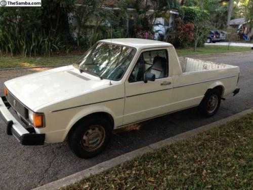 1981 volkswagen rabbit caddy v4 pickup truck for sale orlando fl. Black Bedroom Furniture Sets. Home Design Ideas